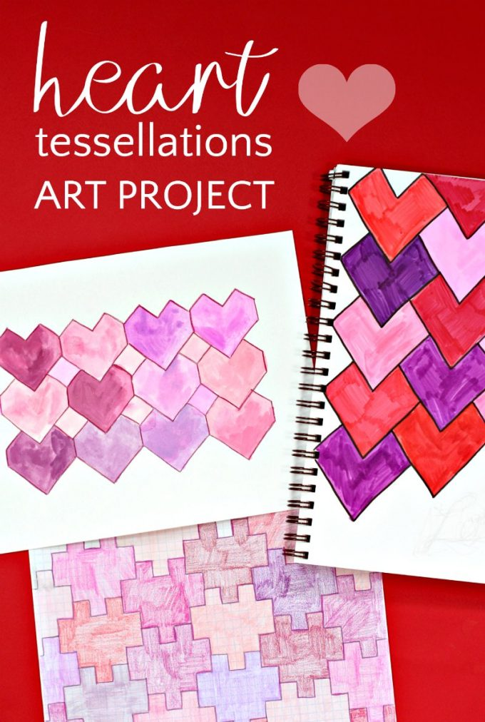 Math art heart tessellations project