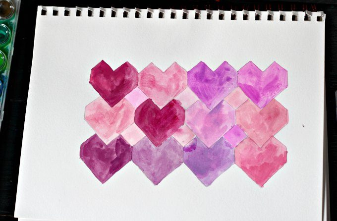 Watercolor tessellations