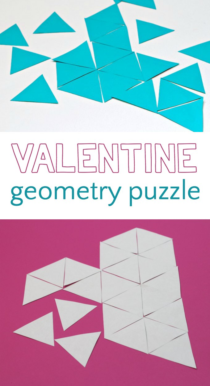 Valentine math and geometry puzzle