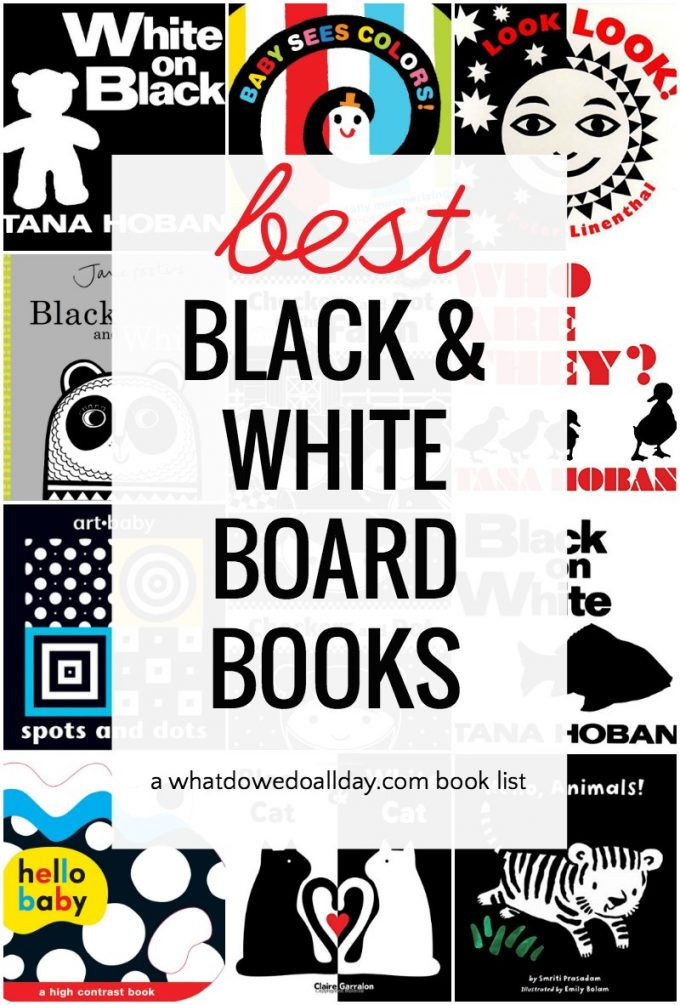 Babies like to look at bold black and white images. Here's a book list to help you.