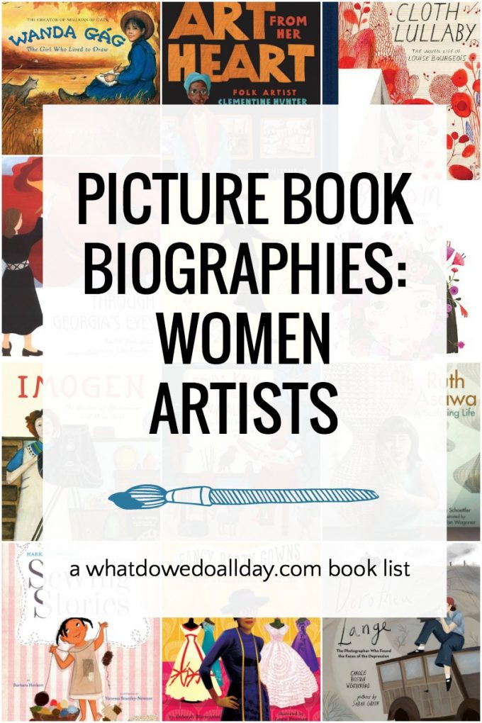 Children's book biographies of women artists