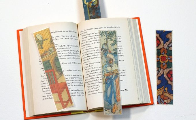 Bookmarks upcycled from old calendars