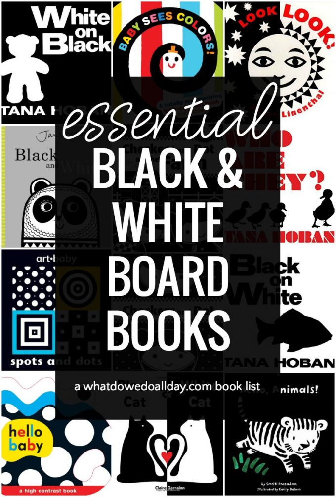 Black and white board books to read to babies