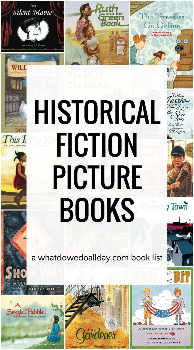 Book list of historical picture books to teach history