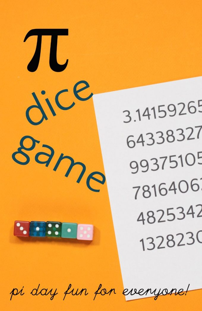 Fun dice game for pi day
