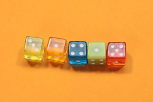 Numbers of pi with dice