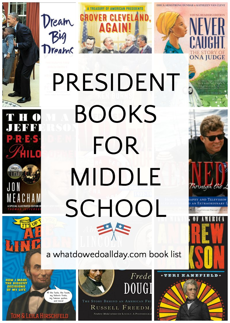 Books about US presidents for middle schoolers