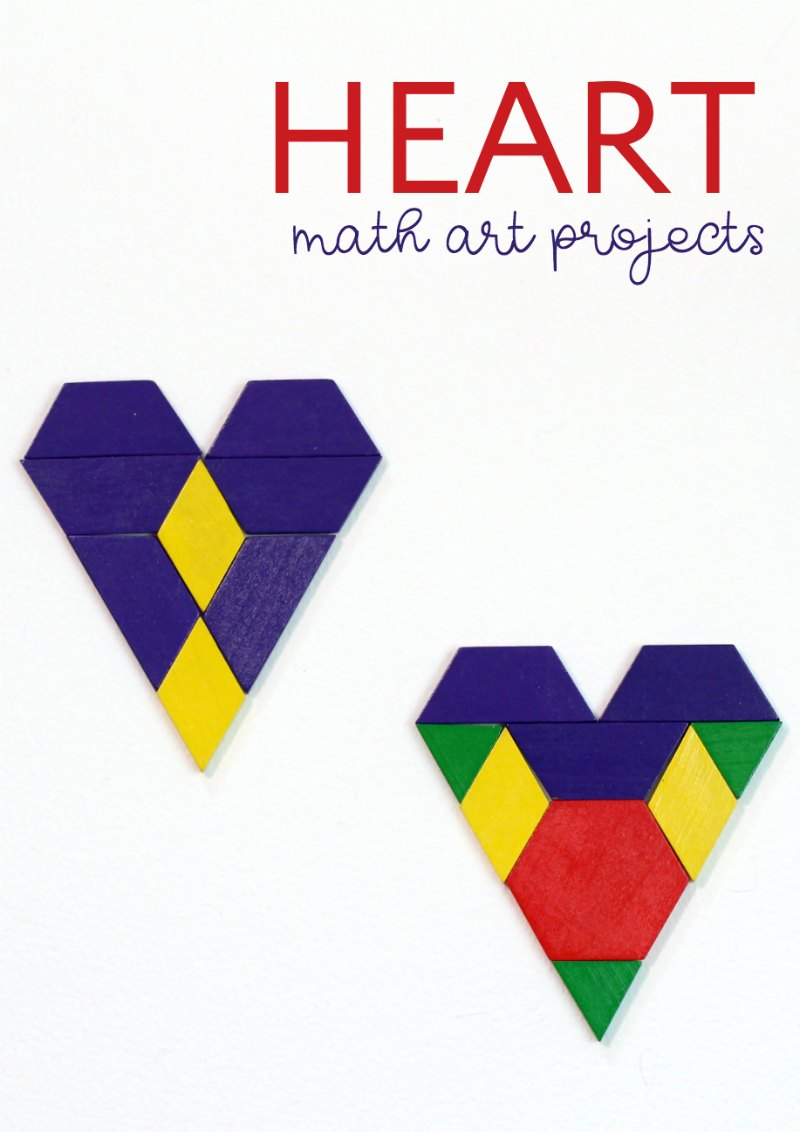 Math art projects to do on Valentine's Day