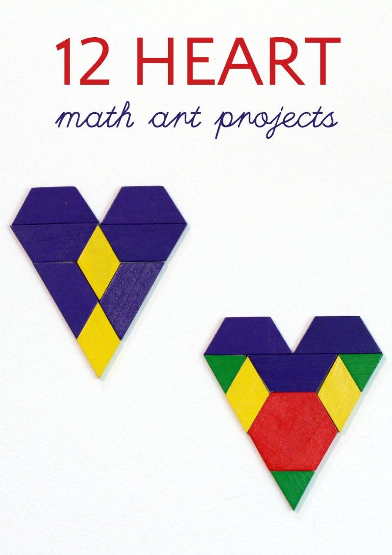 12 Valentine's Day math art ideas using hearts