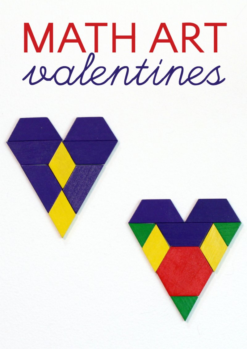 Valentine math art projects that make hearts with math