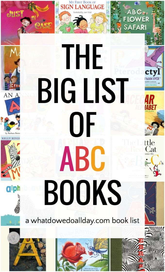 Big list of fun children's alphabet books