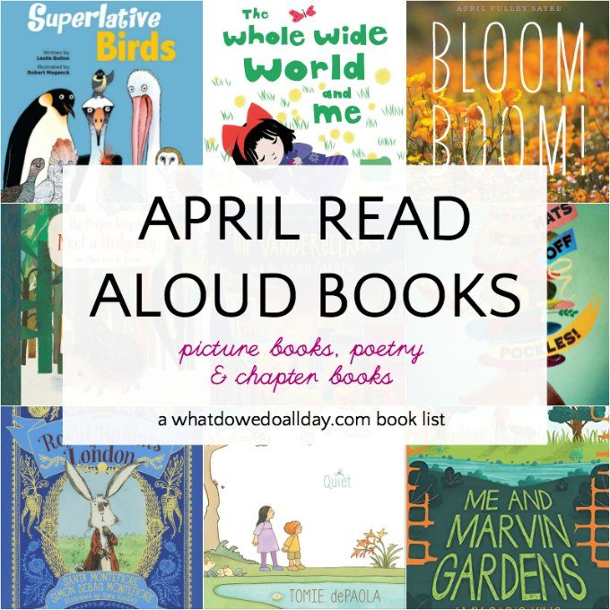 The best books to read aloud in April