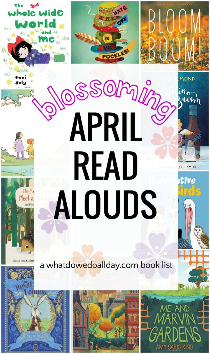 April read aloud books for kids of all ages.