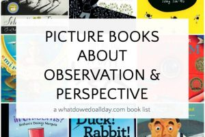 Picture books that teach kids observation and about perspective