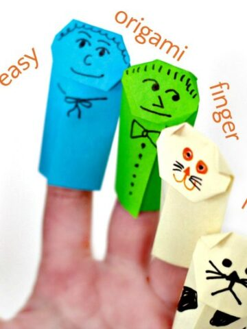 How to make cute origami finger puppets