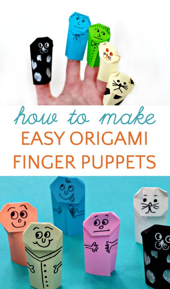 How to make easy origami finger puppets