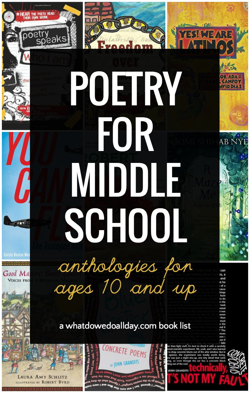 Poetry anthologies for middle school