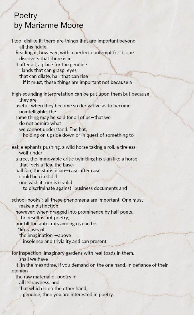 Poetry by Marianne Moore