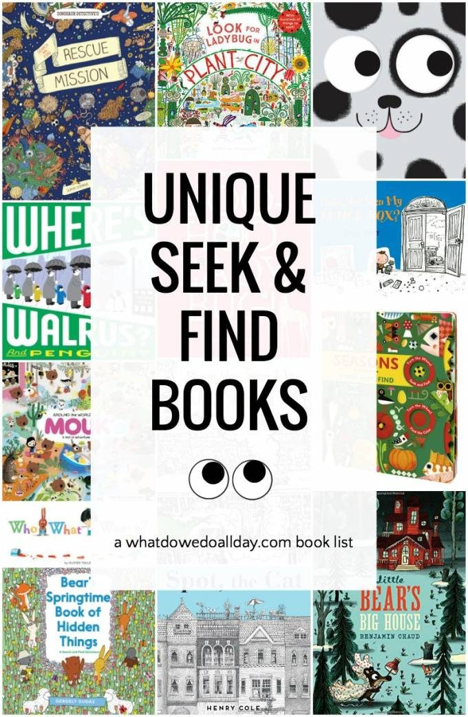 Seek and find book list