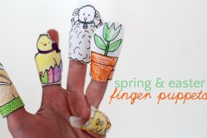 Free printable spring finger puppet template