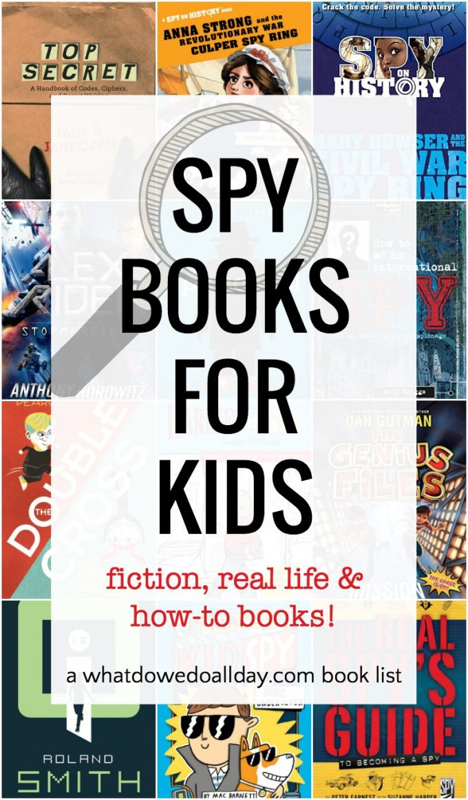 Children's books about spies and secret agents