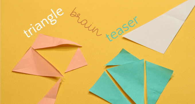 Triangle brain teaser that is harder than it looks.