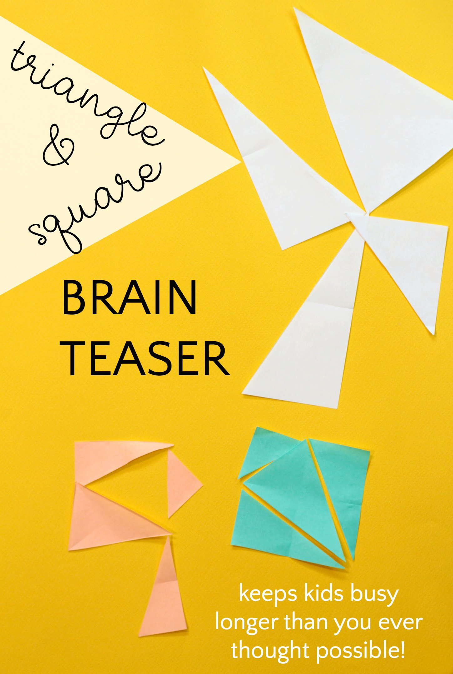 Triangle brain teaser made out of paper