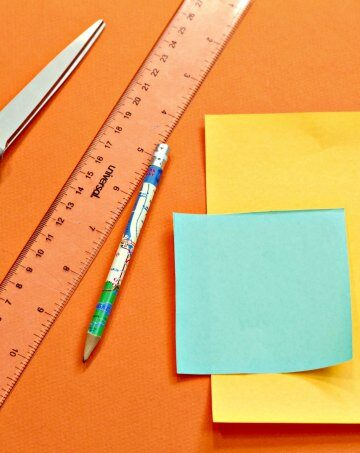 Supplies for making paper triangle puzzle
