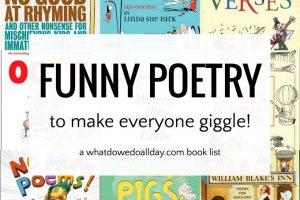 Funny poems for kids in a curated list of books.