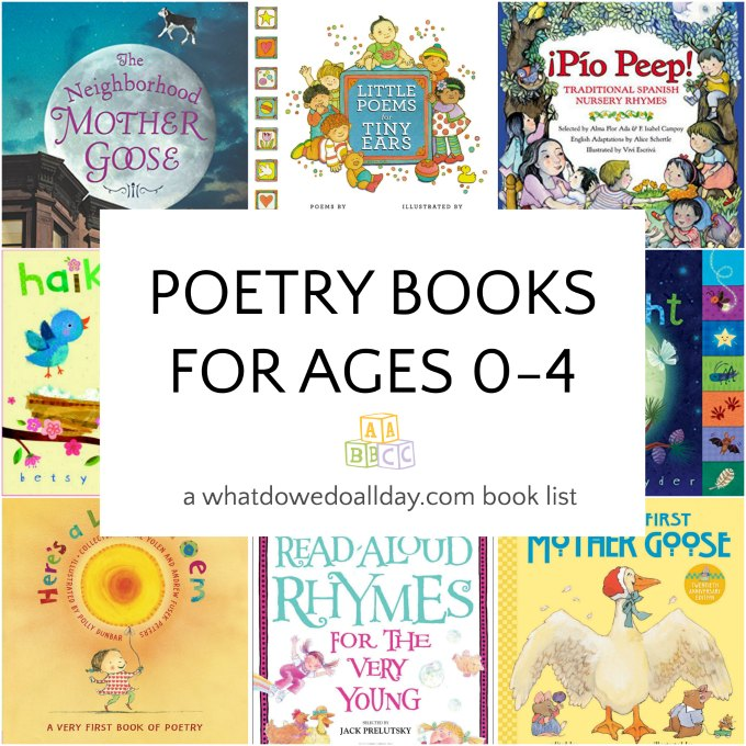 Poetry books for kids ages 0-4