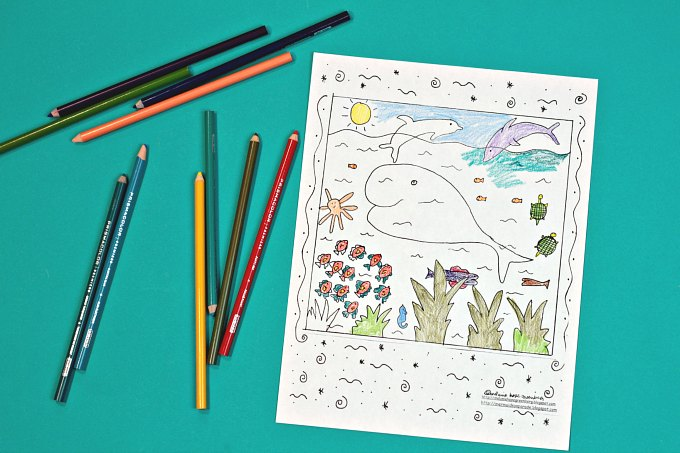 Under the Sea coloring page by Melanie Hope Greenberg
