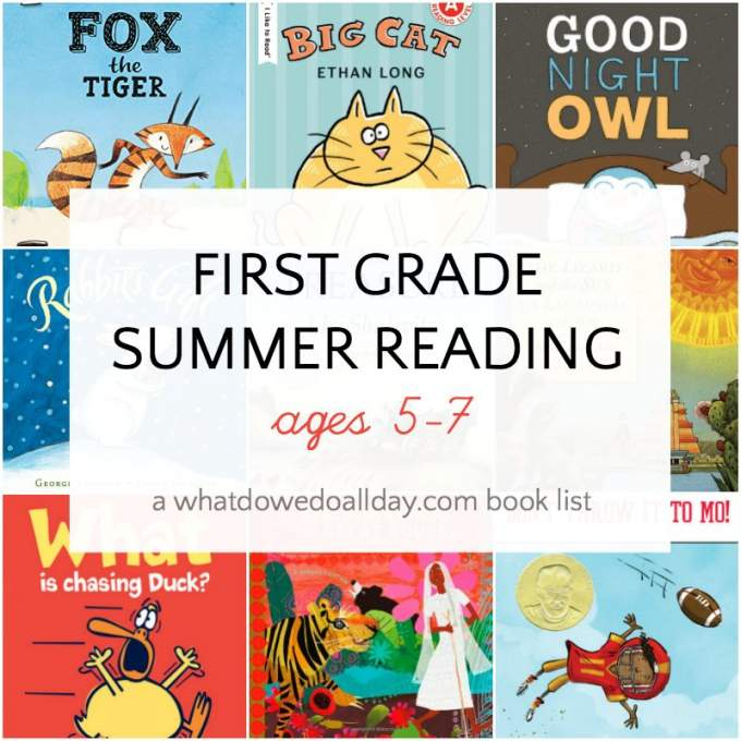 First grade summer reading book list for kids ages 5-7
