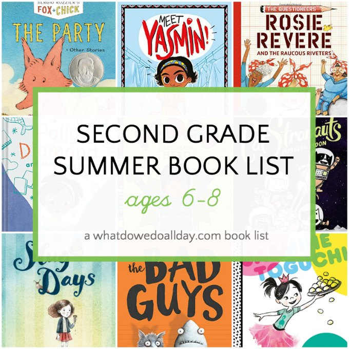 Second grade summer reading list