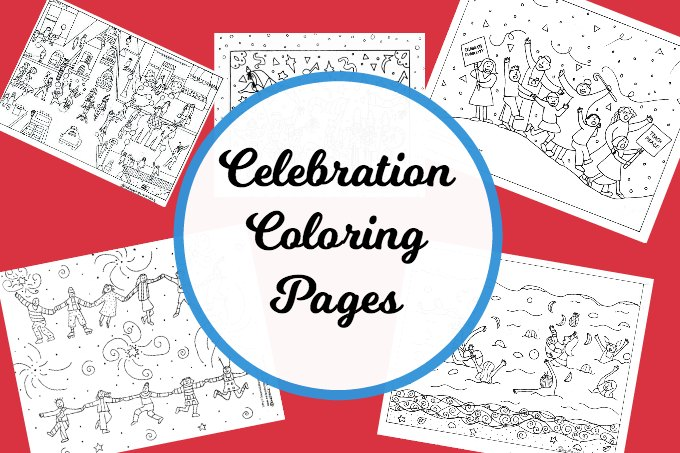 Celebration coloring pages for kids