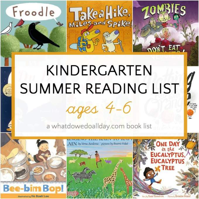 List of kindergarten summer reading books