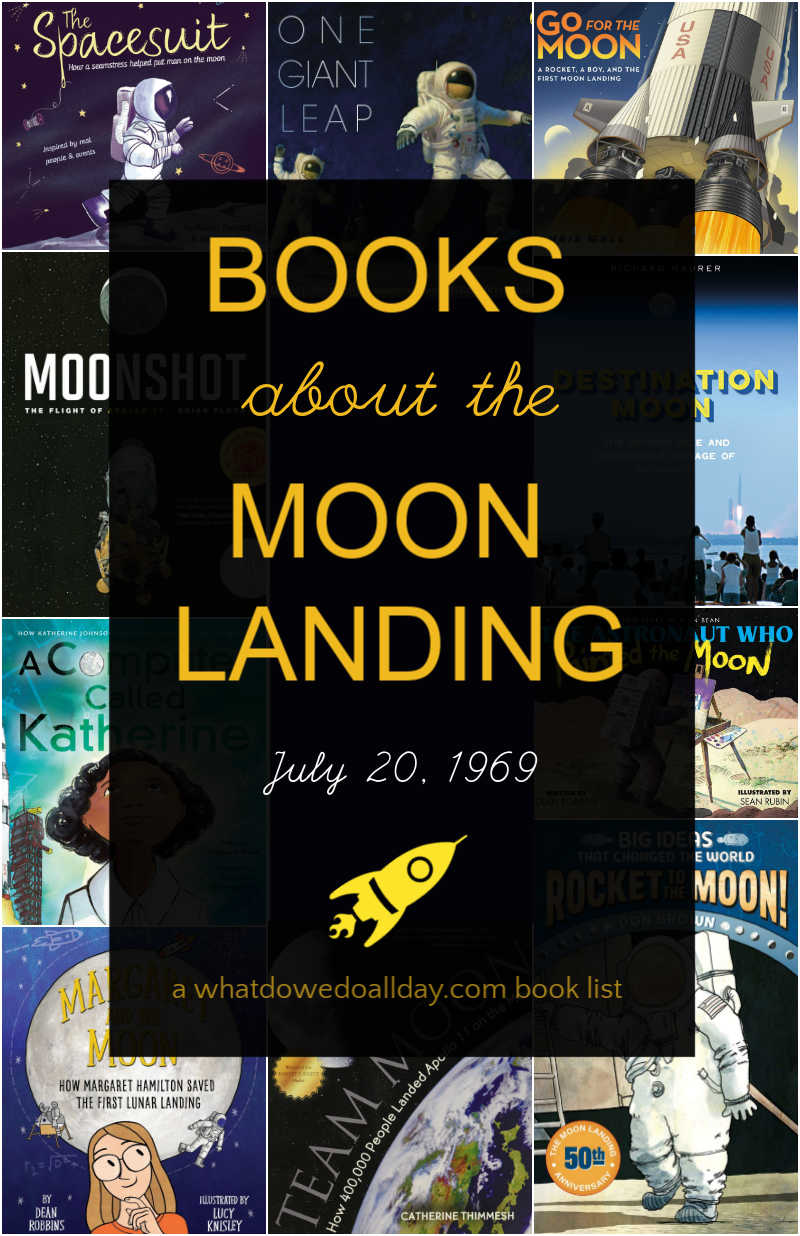 Moon landing books for kids