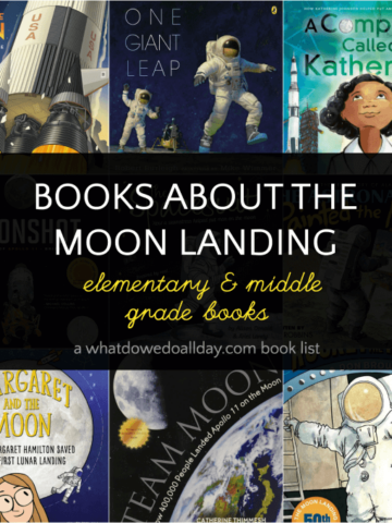 Children's books about the moon landing