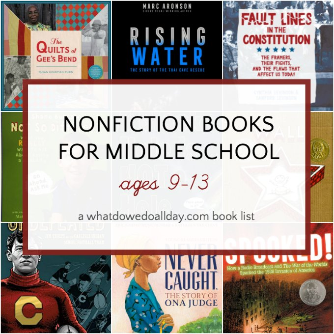 List of nonfiction book for middle school kids