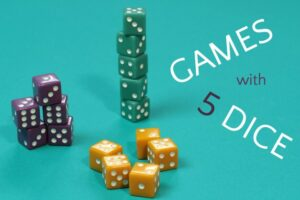 Collection of 5 dice games for families