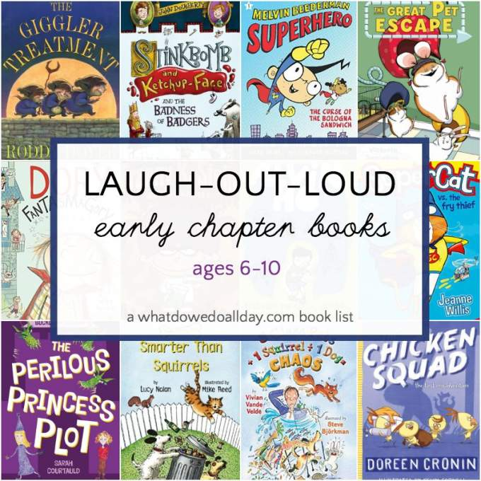 List of funny beginning chapter books for 6-10 year olds