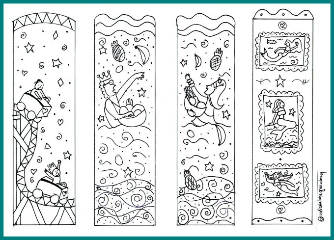 graphic relating to Free Printable Bookmarks to Color Pdf identified as Mermaid Bookmarks: Do it yourself Adorable Printable Coloring Web page