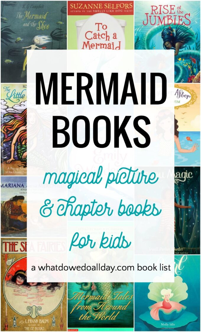Collection of mermaid books for children