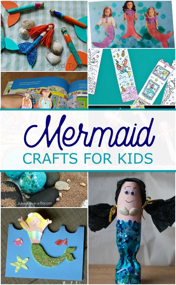 Collection of mermaid crafts