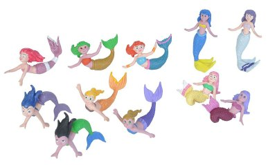 toy Mermaid figures