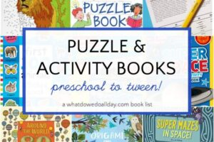 Best puzzle books for kids for a road trip