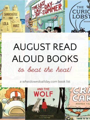 Read aloud children's books for August