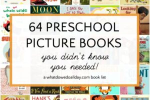 List of preschool books for 3-5 year olds