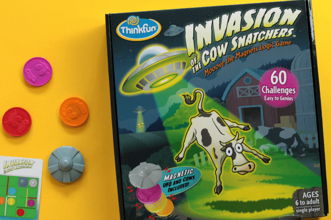 Invasion of the cow snatchers game from ThinkFun