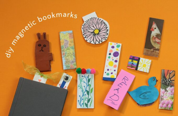 Assortment of unique hand made magnetic bookmarks