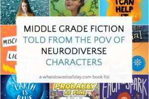 Neurodiversity in Middle tgrade books lis